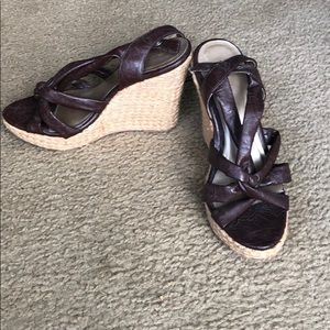 Charlotte Russe size 7 strapped wedge sandals